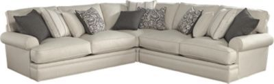 Cindy Crawford Home Lincoln Square Beige 3 Pc Sectional - Living Room Sets (Beige)