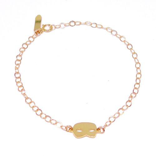 Le #bracelet #masque de #carnaval en #or fin - Prix 25 euros TTC - En stock #Tiepolo #art #bijou