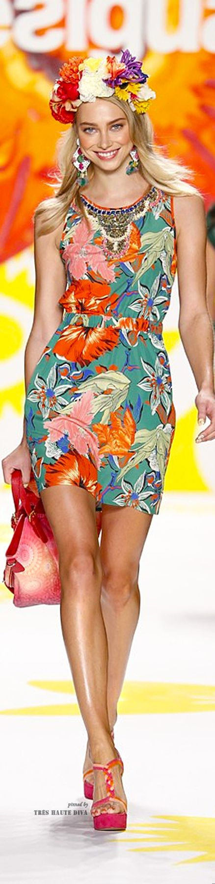 Desigual Spring 2015 RTW (Collection 'Say Something Nice for Spring designed by Christian Lacroix) ♔ Très Haute Diva