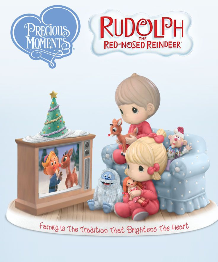 It just wouldn't be Christmas without Rudolph the Red-Nosed Reindeer! Celebrate a cherished family tradition with this charming Precious Moments figurine that brightens the heart.