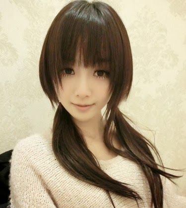 Ponytailed Girl - the best The Best 2014 Korean Hairstyles for Women - http://lateststyletrends.com/?p=566 -  #2014 #Hairstyles #Korean #korean actress hairstyle 2014 #Korean Hairstyles #Korean Hairstyles for Women #The Best #Women