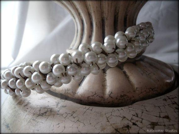 Pearls A'more Bridal Headband  RainwaterStudios  $85.00Pearls A Mor, Rainwaterstudio 85 00, A Mor Bridal, Anna Delphia, Delphia Bridal, Pearls Amor, Bridal Headbands, Headbands Rainwaterstudio