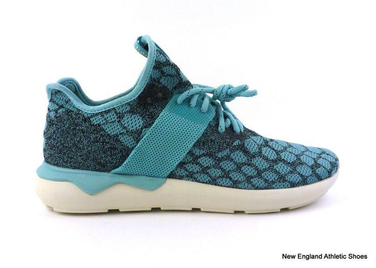 adidas men's Tubular Runner Primeknit casual shoes size 12 Blue Black White #adidas #AthleticSneakers