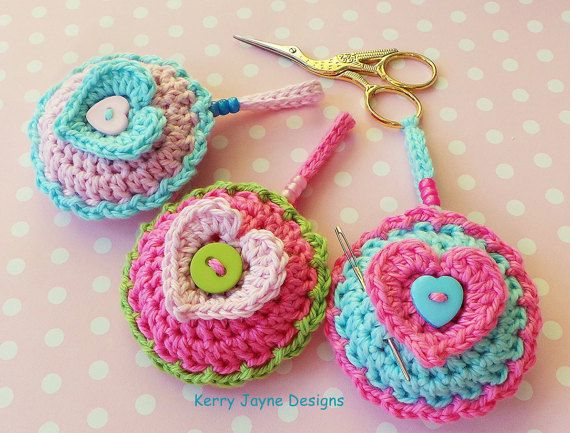 CROCHET PATTERN SCISSOR Keeper Valentines by KerryJayneDesigns