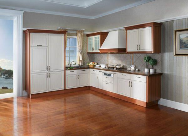 OP12-X135 white PVC kitchen cabinet