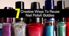 Have you ever wondered what to do with those empty or old nail polish bottles? Check out these 7 reuses below: Incense Holder – Clean nail polish bottles make sturdy, simple holders for single sticks of incense [source] Craft Supply Storage – If you need a place to store small beads or...