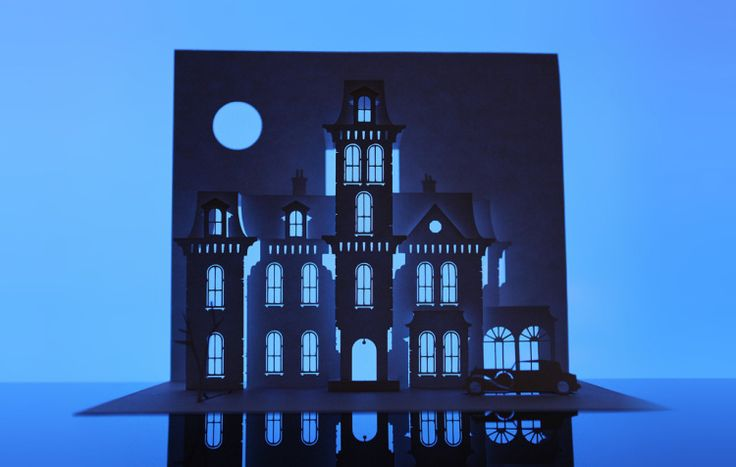 Famous Haunted Houses Created From a Single Sheet of Paper | London-based artist Marc Hagan-Guirey has created a highly interesting series called Horrorgami dedicated to those haunted houses in classic horror movies.