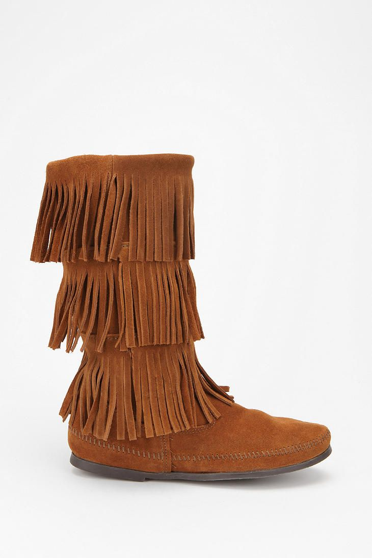 Minnetonka Triple Fringe Boot - if only I were a little younger I would get these...