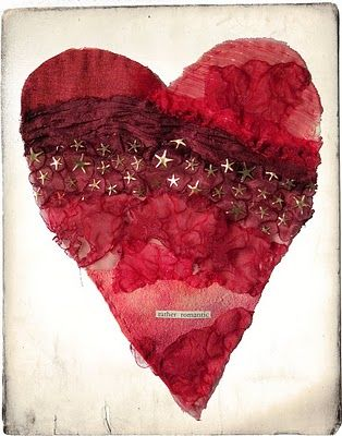 although the link may be to a fabric heart, this would be lovely in watercolors