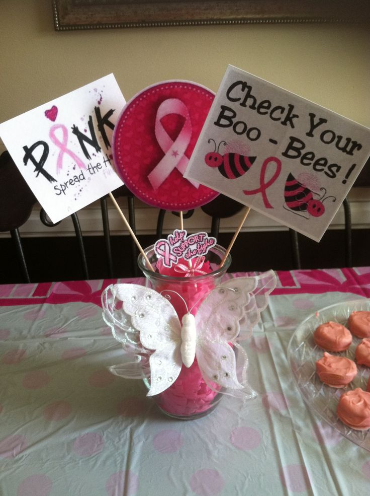 a table centerpiece i made for a breast cancer awareness. Black Bedroom Furniture Sets. Home Design Ideas