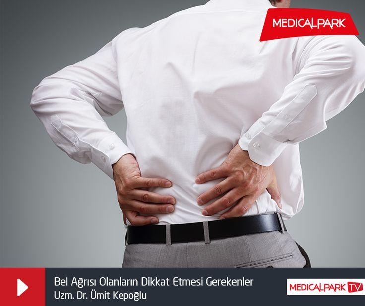 Medical Park Gebze Hastanesi Beyin ve Sinir Cerrahisi Bölümü'nden Uzm. Dr. Ümit Kepoğlu, bel ağrıları ve tedavisi hakkında bilgilendiriyor. http://www.medicalparktv.com/bel-agrisi-olanlarin-dikkat-etmesi-gerekenler/?utm_source=365pinterest&utm_medium=365sm-pin&utm_campaign=belagrisi #belağrısı