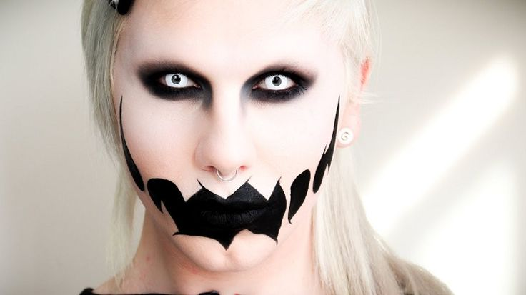maquillaje de fantasma muy original