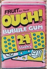Ouch Bubble Gum - FRIDGE MAGNET - 80s candy band aid bubble gum sticks pink