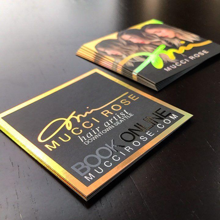 Mucci Rose Business Card Spot Uv Foil Business Cards Embossed Business Cards Laminated Business Cards