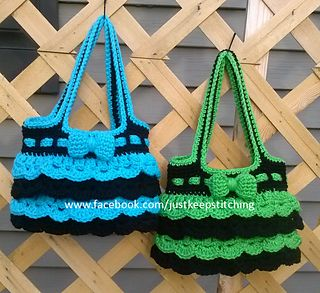 Crochet Holiday Ruffled Purse