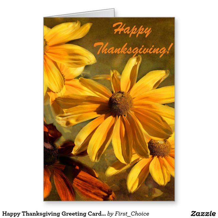 Happy Thanksgiving Greeting Card in Orange