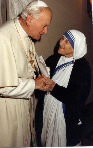 .Pope John Paul II and Mother Teresa (Saints) #MotherTeresa