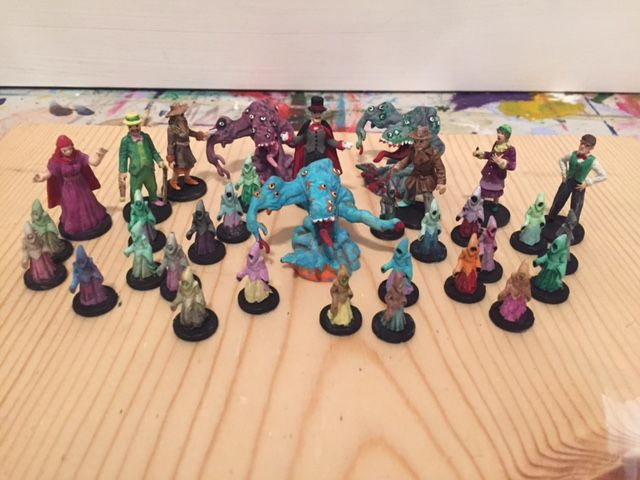 Reign of Cthulhu figures painted part 1   Pandemic: Reign of Cthulhu   BoardGameGeek