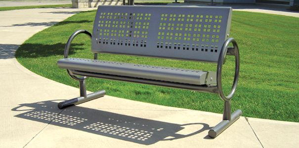 Form Plus Transit Bench | Metal | Park Benches | Belson Outdoors