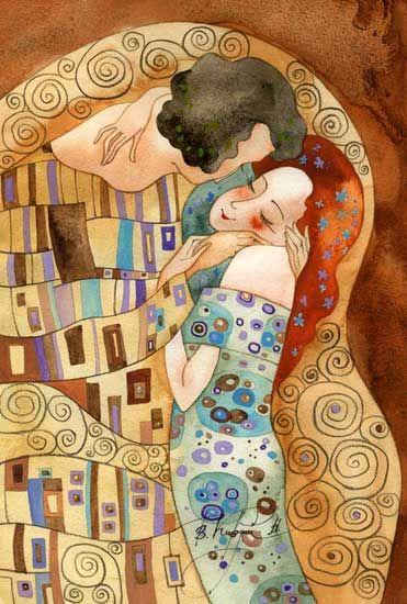 Victoria Kirdiy - a la (in the manner of) Klimt