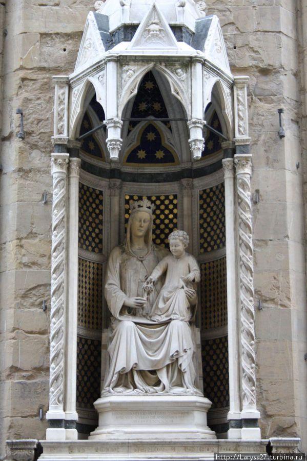 Мадонна — покровительница врачей и аптекарей, покровительница Медичи, Симоне Ферруччи, 1399 г.