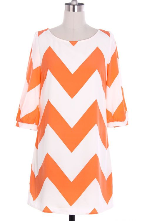 Orange Chevron Gameday Dress...I HAVE TO HAVE THIS FOR TN VOLS OPENING GAME...NEED WITH COWBOY BOOTS!