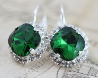 Orecchini da sposa verde smeraldo oro sposa di BeYourselfJewelry