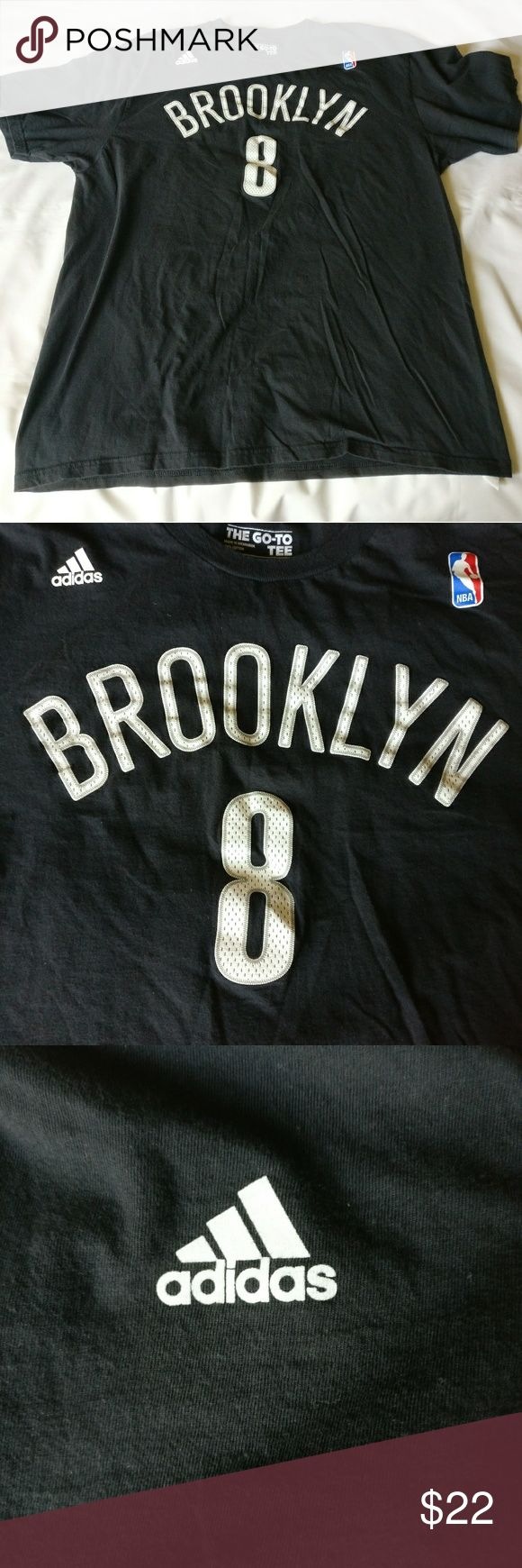 Nba Official Brooklyn Nets Deron Williams Shirt Gently used before hand. No tears or holes.  TAG SIZE: XL  Length:  21.5 inches armpit to armpit & 29 inches shoulder to base  Color - Black  Fabric - 100% Cotton adidas Shirts Tees - Short Sleeve