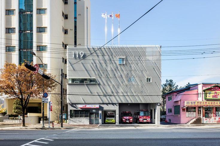 Myeonmok Fire Station | Architect Magazine | Yong Ju Lee Architecture, Seoul, South Korea, Community, Government, New Construction, Community Projects, Fire Safety, Seoul, South Korea, Jungnang Fire Station