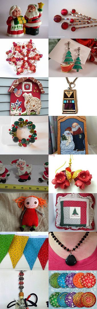 Mr. and Mrs. Santa by Hema Rao on Etsy--Pinned with TreasuryPin.com