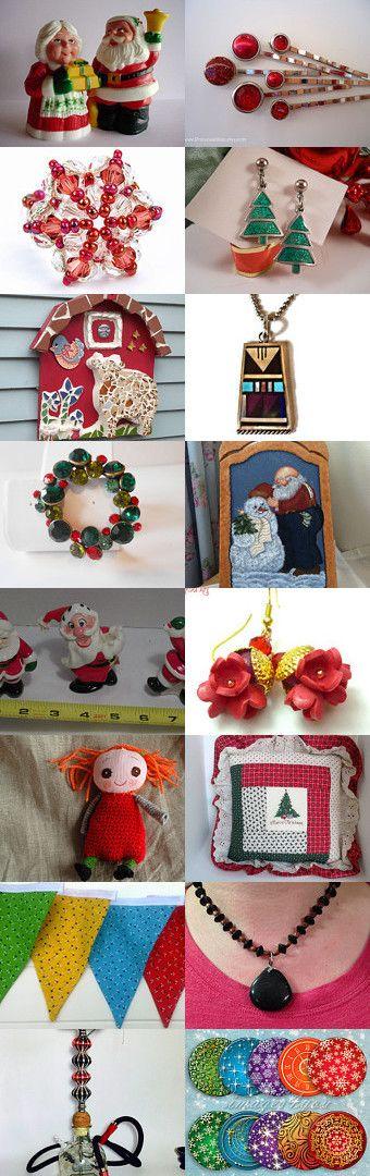Mr. and Mrs. Santa by Hema Rao on Etsy--Pinned with TreasuryPin.com