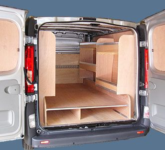Plywood Lined van with bespoke shelving and racking    Systems can be either fitted at your premises or at our workshop. To discuss your requirements call Tony or Liam on 07768 718315 or 01189 331715.