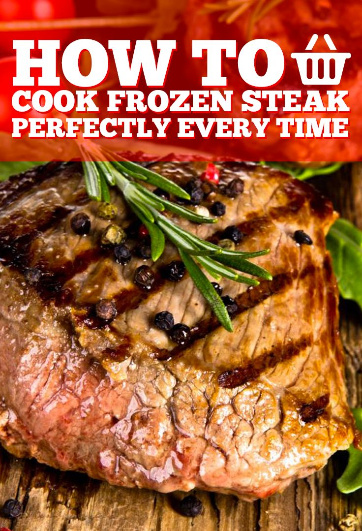 The Trick To Cooking Steak: Cook It Frozen... In this video tutorial you'll learn how to cook frozen steak and it will taste just like steak from a restaurant.