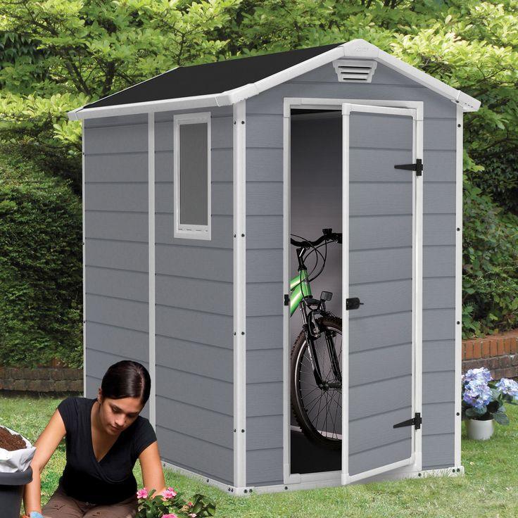 beachcrest home steinhatchee 4 ft w x 6 ft d plastic storage shed - Garden Sheds 6 X 3