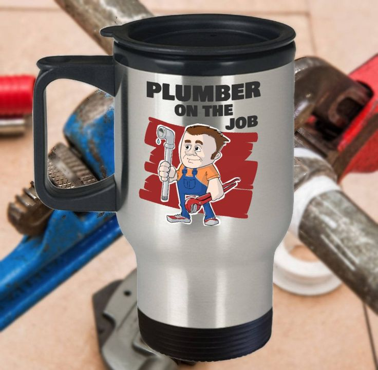 Funny Plumber Travel Mug, Plumber Gift, 14oz, Double-Walled, Stainless Steel by PortunaghDesign on Etsy