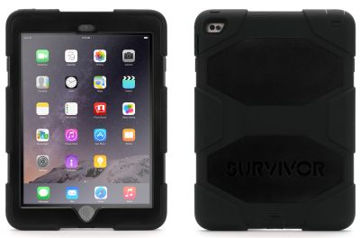 Griffin Survivor suits iPad Air 2 - military tested, rugged protection for a hardcore case! - For defense against the unknown, the Griffin Survivor case for your iPad Air 2, is at your ready. Military tested, this case ensures your device is no...