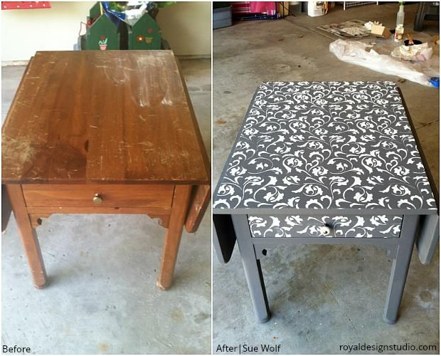 The BEST and PRETTIEST Before & After DIY Home Decor Projects using Royal Design Studio Wall Stencils, Floor Stencils, and Furniture Stencils