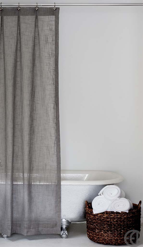 Extra Long Shower Curtain in Multiple Colors - EMILY ELLINGWOOD DESIGNS