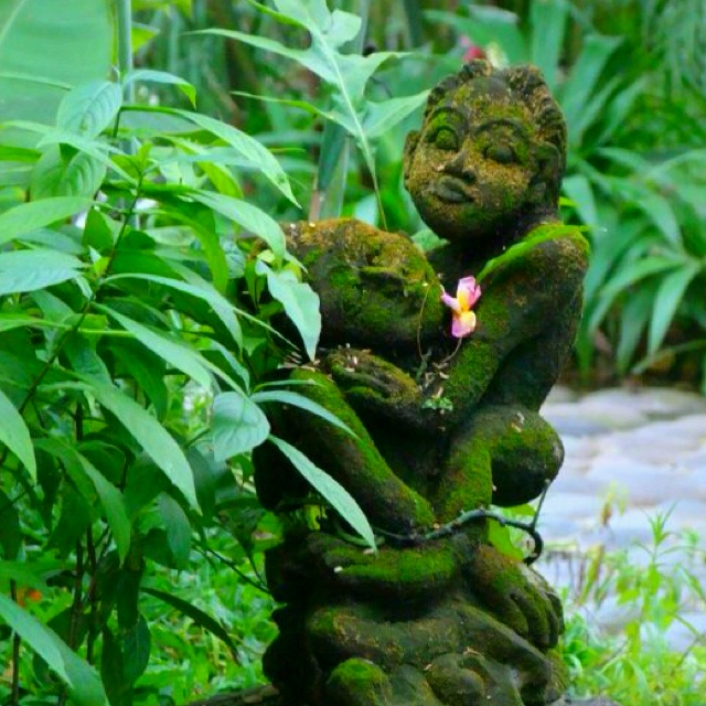 Balinese garden ornaments