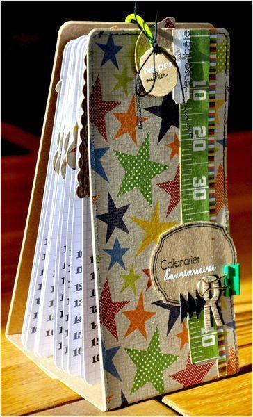 Tuto calendrier des anniversaires de Martouillescrap: http://martouillescrap.canalblog.com/archives/2012/11/28/25688172.html