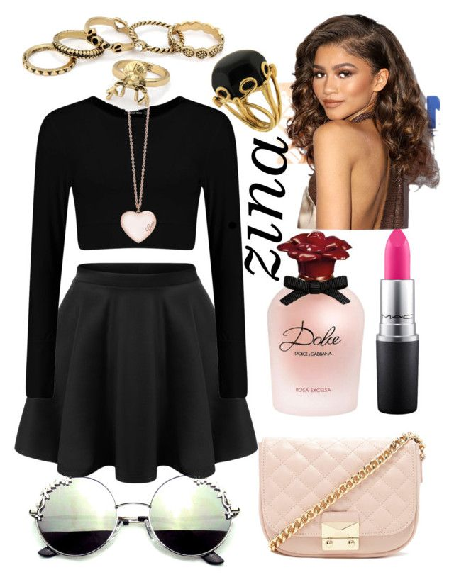 """Zina."" by ella1122ghost on Polyvore featuring GUESS, Forever 21, Dolce&Gabbana, MAC Cosmetics and Valentin Magro"