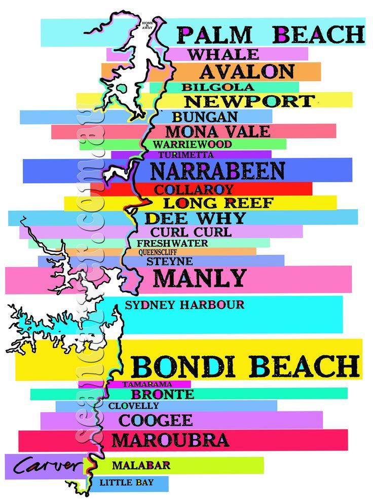 Sydney beaches print