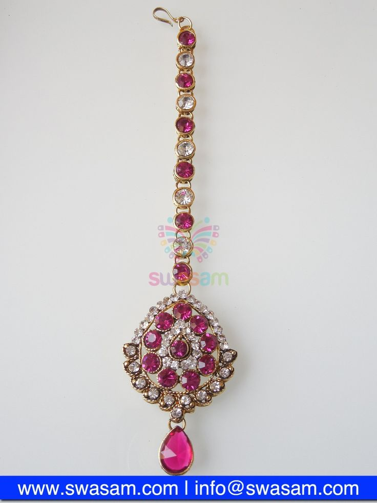 Indian Jewelry Store | Swasam.com: Tikka with Perls and White Stones - Tikka - Jewelry Shop to Buy The Best Indian Jewelry  http://www.swasam.com/jewelry/tikka/tikka-with-perls-and-white-stones-1300.html?___SID=U  #indianjewelry #indian #jewelry #tikka