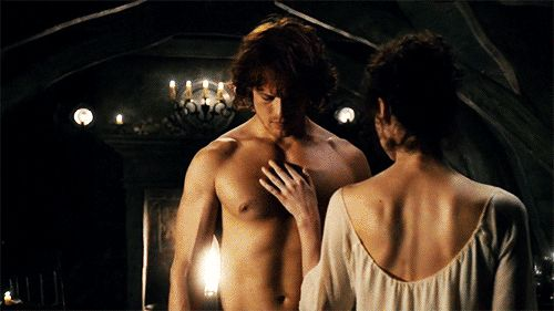 Pin for Later: 36 of the Sexiest (Borderline NSFW) Moments From Outlander  They don't even care about the bed.