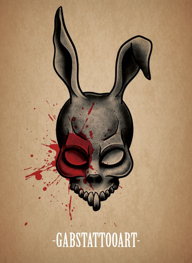 Donnie Darko Frank Tattoo design blackwork @gabstattooart ...