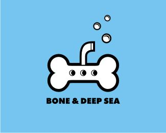 Bone & Deep Sea Logo design - This logo is ideal for art & photography, design & creative services, entertainment, and any related businesses.