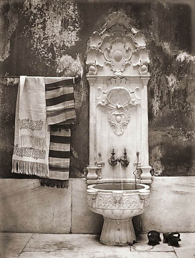 Turkish harem bath, 1869 -  Photographer: Abdullah Freres, Constantinople