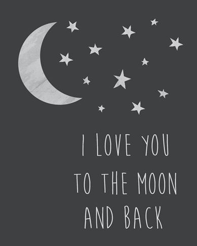 I love you to the moon and back printable by CrayonBoxStudios