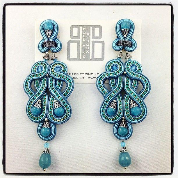 #orecchini #bijoux #soutache #Jewels #moda #fashion #earring #torino #bollicinebijoux.com