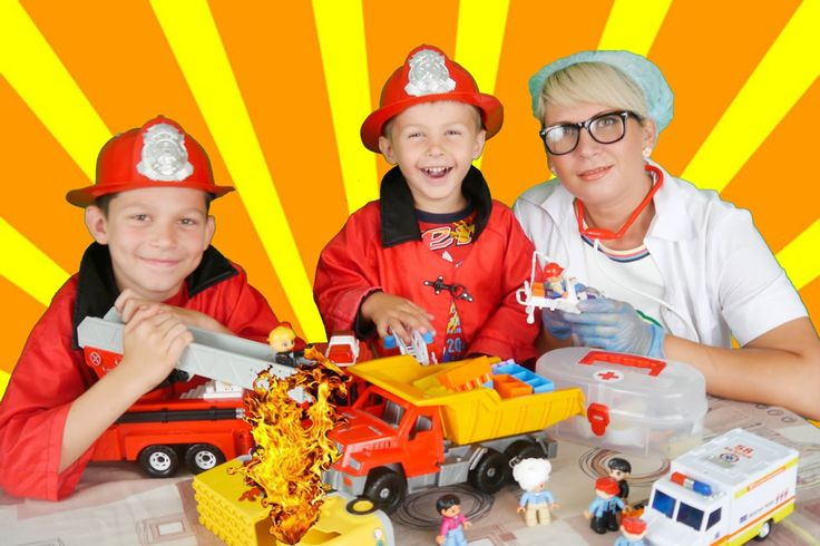Little heroes firefighters 24 to the rescue crash truck ! Fire truck toy...